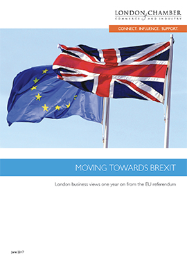 Moving Towards Brexit: London business views one year on from the EU referendum