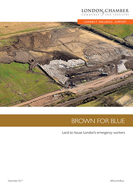 Brown for Blue: Land to house London's emergency workers