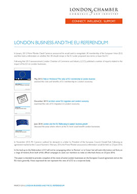 London business and the EU Referendum